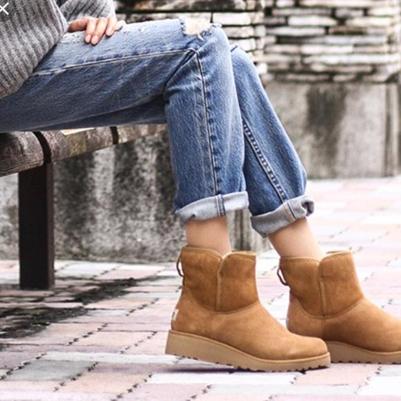 231874e12f7 NEW UGGs kristin classic slim mini boots chestnut NWT